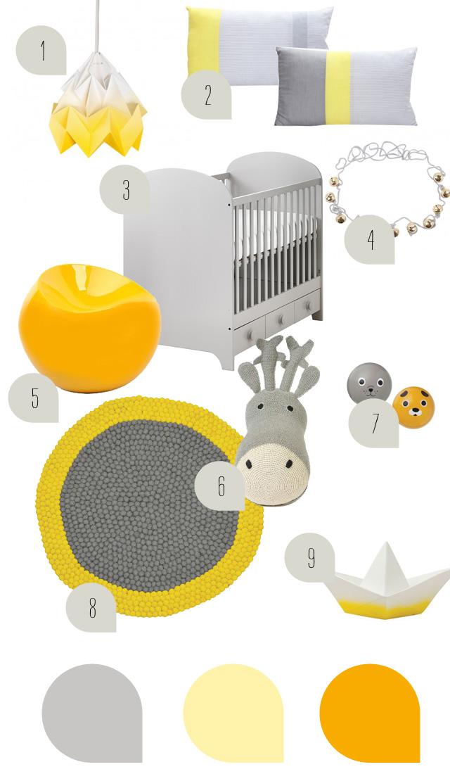 babyzimmer sommerlich gelb f r junge und m dchen sanvie mini. Black Bedroom Furniture Sets. Home Design Ideas