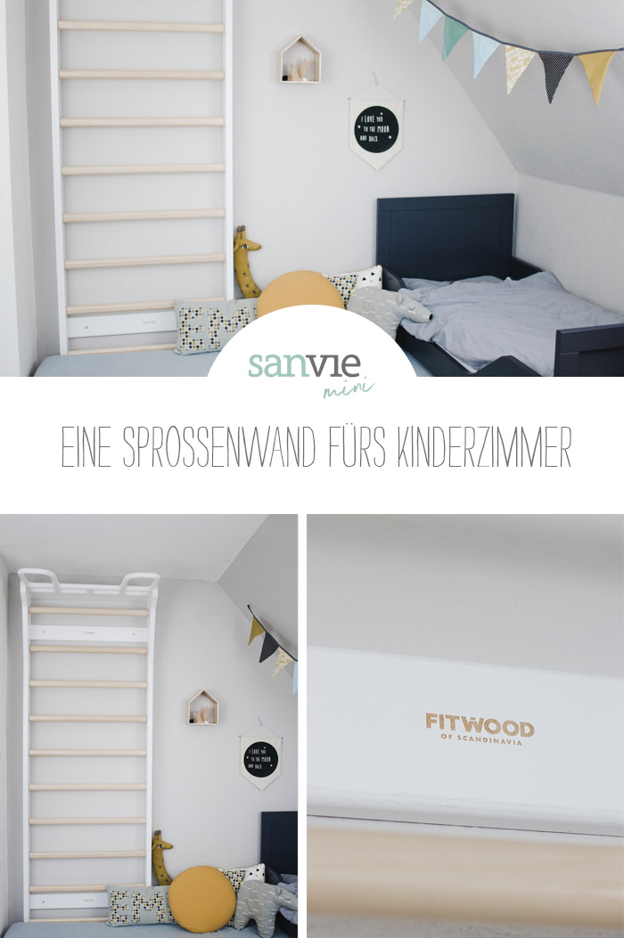 eine sprossenwand f rs kinderzimmer sanvie mini. Black Bedroom Furniture Sets. Home Design Ideas
