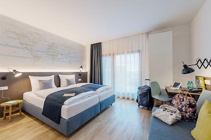 Doppelbett familienzimmer jufa hotel hamburg hafencity for Hotels mit familienzimmer in hamburg